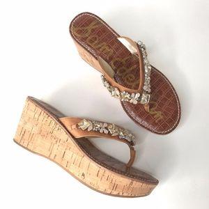 Sam Edelman Womans Randi Slipper Wedge Sandals